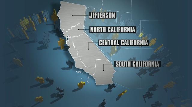 California có thể chia nhỏ thành 6 tiểu bang
