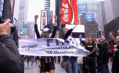 100 ngày chạy 100 cuộc marathon