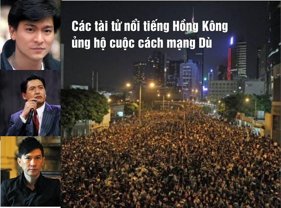 Tài tử Hong Kong ủng hộ cuộc biểu tình dân chủ