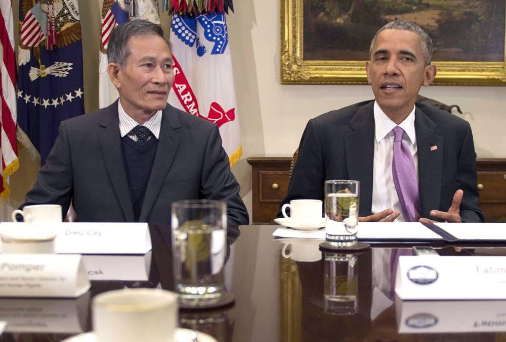 Tổng thống Obama gặp gỡ Blogger Điếu Cày nhân ngày Tự Do Báo Chí Thế Giới
