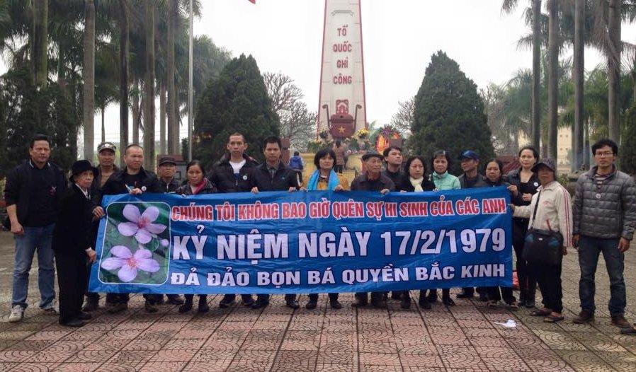 Lễ tưởng niệm tử sỹ cuộc chiến Việt-Trung bị mật vụ CSVN quấy rối