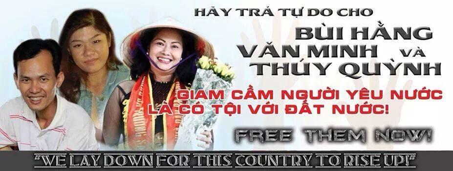 Trực tiếp tường thuật phiên xử ba nhà hoạt động Bùi Hằng, Văn Minh, Thúy Quỳnh