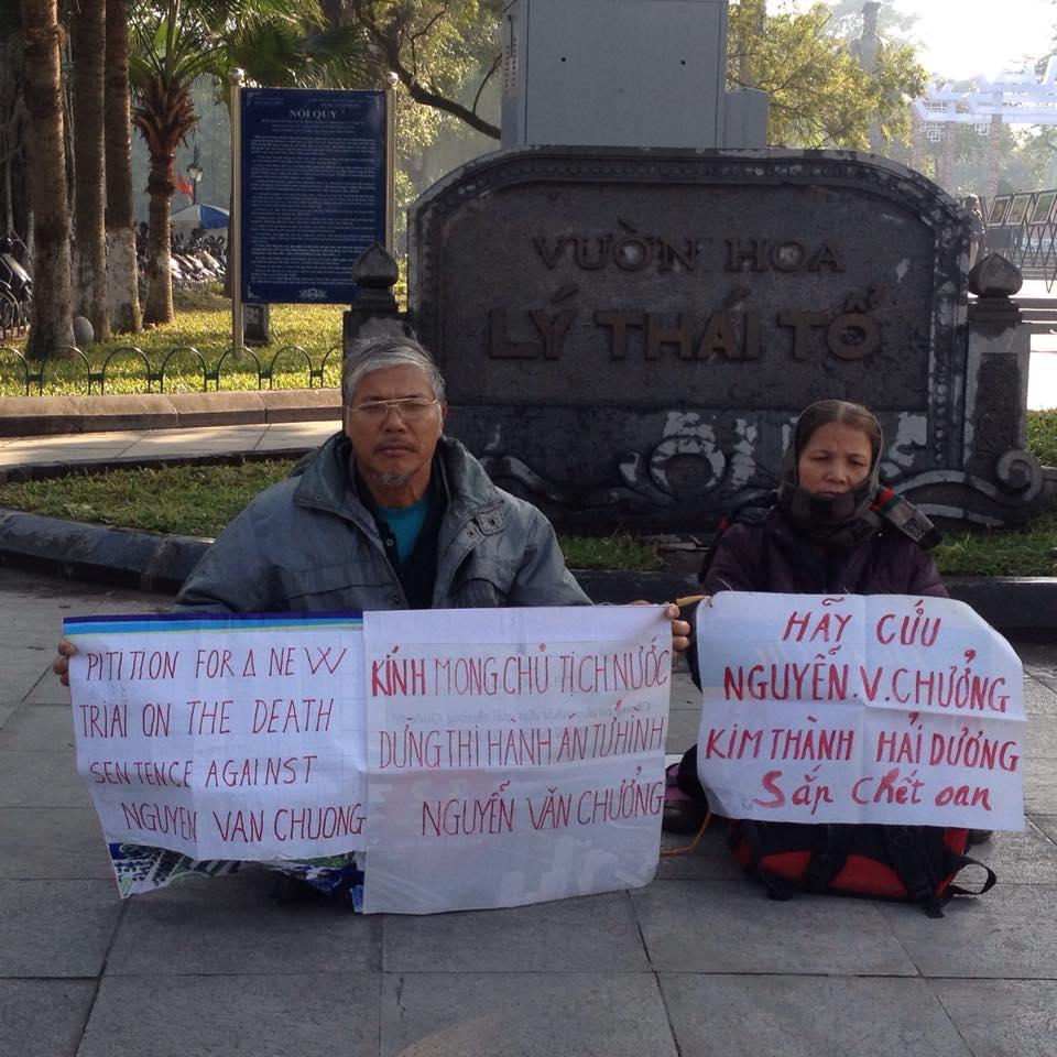 Gia đình tử tù Nguyễn Văn Chưởng tiếp tục tọa kháng kêu oan