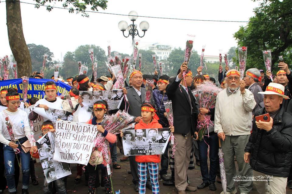 Những hành vi phá rối trong Lễ tưởng niệm Gạc Ma 14/3/2015 tại Hà Nội