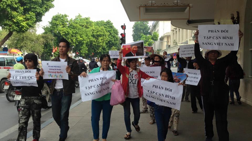 Sài Gòn – Hà Nội xuống đường phản đối Tập Cận Bình tới Việt Nam