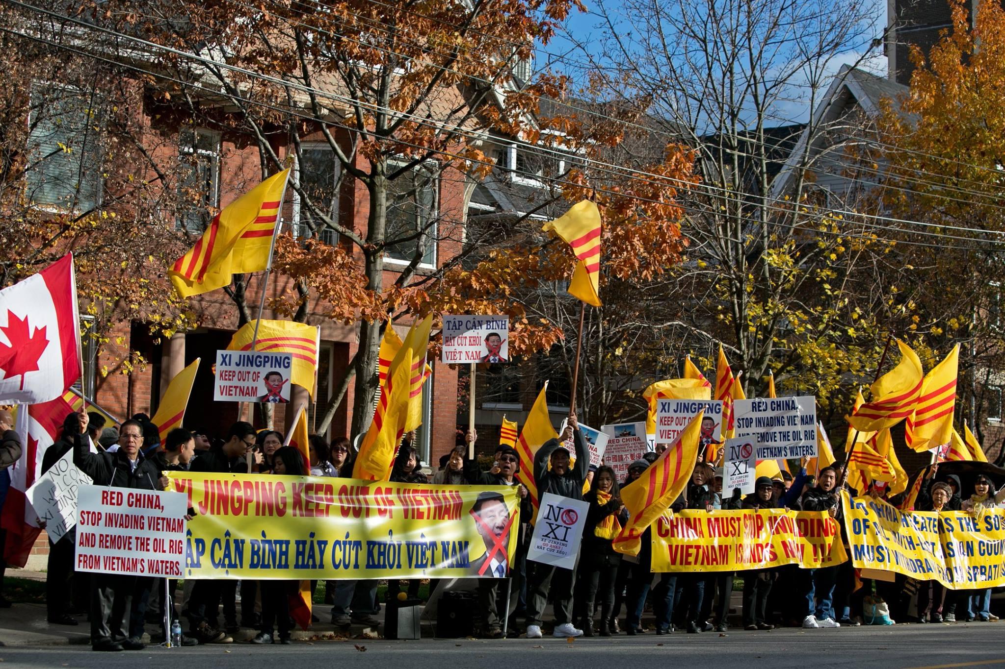 Cộng đồng hải ngoại khắp nơi biểu tình phản đối CSVN tiếp đón Tập Cận Bình