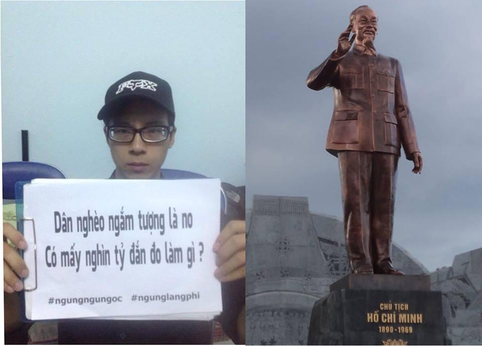 Người dân phản đối việc xây tượng đài ông Hồ