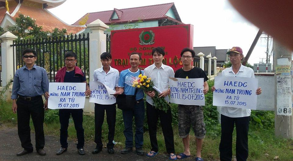 Nhà hoạt động Đỗ Nam Trung mãn hạn tù