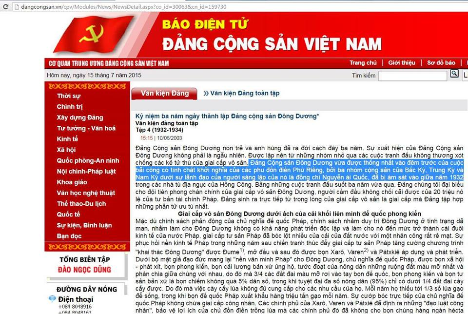 Báo Đảng Cộng Sản xác nhận Nguyễn Ái Quốc bị ám sát năm 1932 ở Hồng Kông