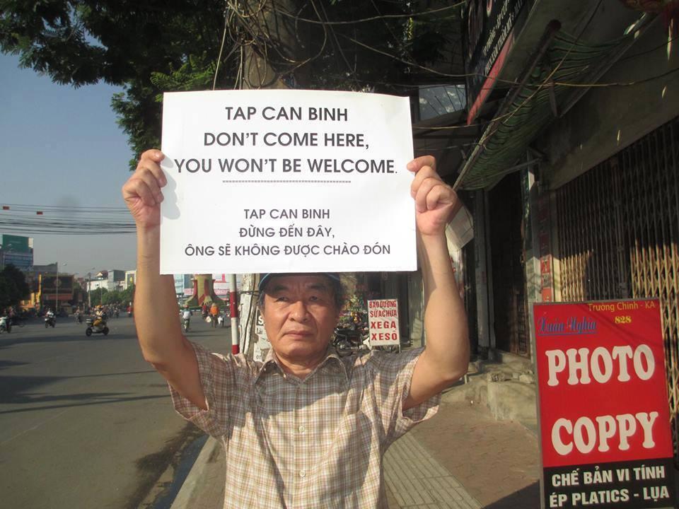 Người dân phản đối Tập Cận Bình đến thăm Việt Nam