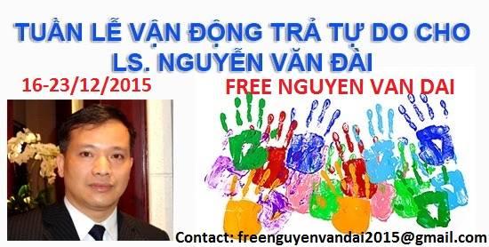 Phát động tuần lễ kêu gọi trả tự do cho Luật sư Nguyễn Văn Đài