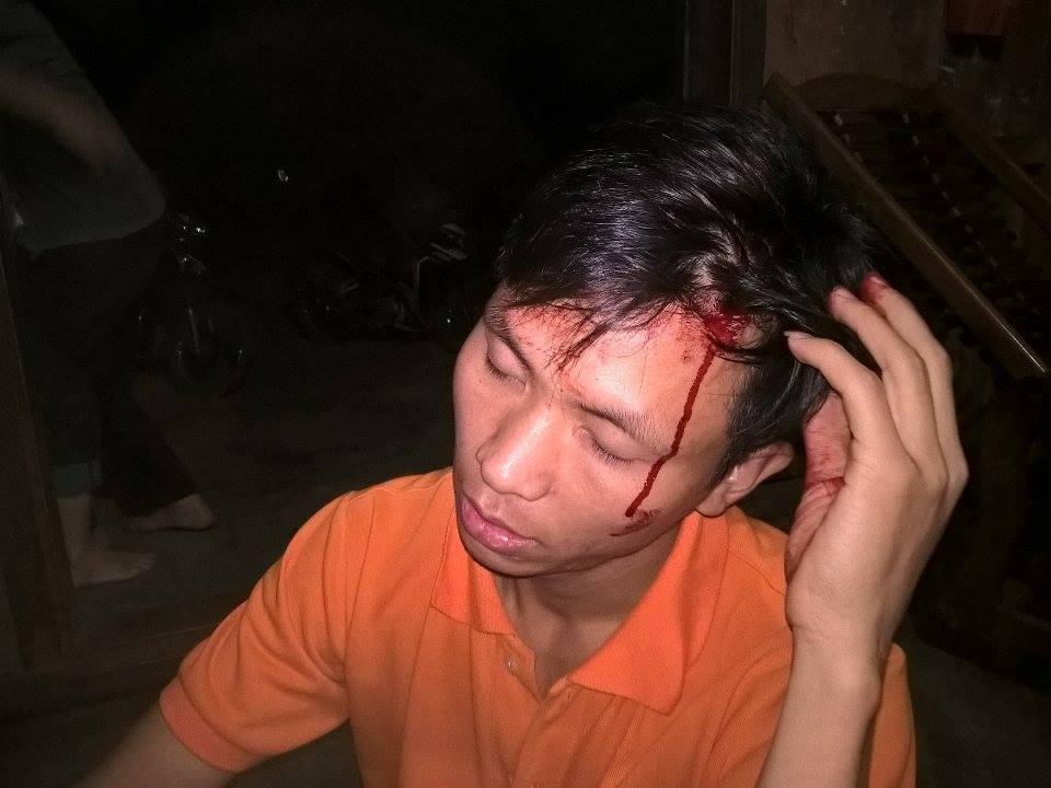 Côn an Lâm Đồng ném đá cựu tù nhân lương tâm Trần Minh Nhật và dọa giết cả nhà anh