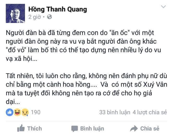 Status trên facebook của đại tá an ninh, tổng biên tập báo Đại Đoàn Kết gây phẫn nộ dư luận