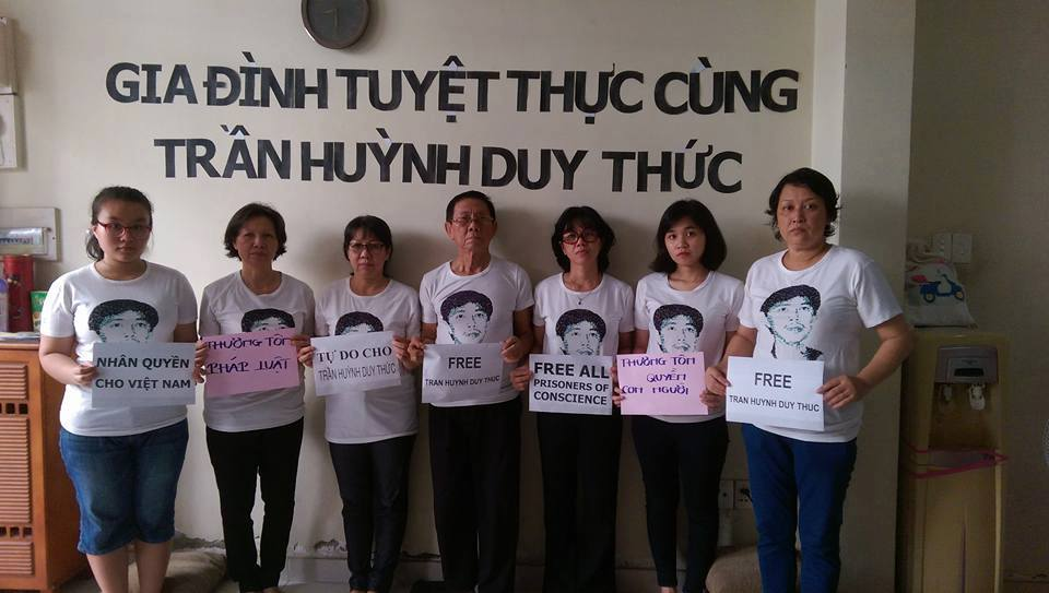 Nhiều người cùng tuyệt thực với tù nhân lương tâm Trần Huỳnh Duy Thức