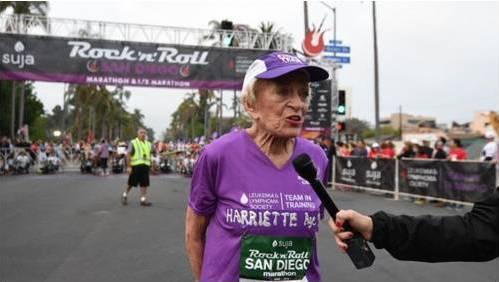 Cụ bà 91 tuổi hoàn thành cuộc đua Marathon trong hơn 7 giờ