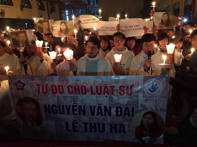 Hà Nội: cầu nguyện cho luật sư Nguyễn Văn Đài và Lê Thu Hà