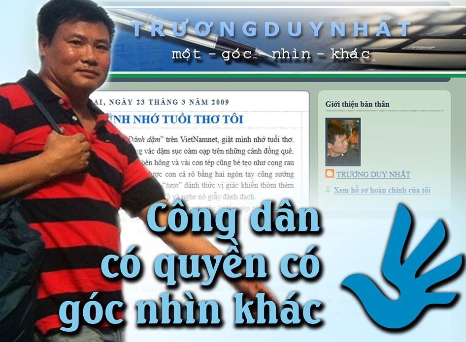 Thế giới chỉ trích bản án 2 năm tù của blogger Trương Duy Nhất