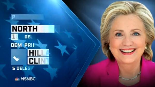 Hillary Clinton thắng ở 5 tiểu bang, Donald Trump 4 tiểu bang