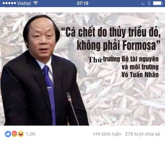 Thứ trưởng Võ Tuấn Nhân chối không nói cá chết không phải do Formosa