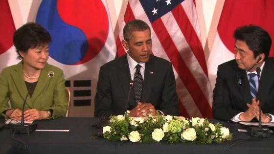 Tổng thống Obama hội đàm với các nhà lãnh đạo Nam Hàn và Nhật Bản