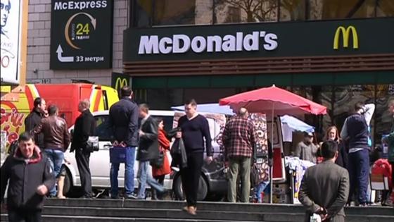 McDonalds ngưng hoạt động ở Crimea