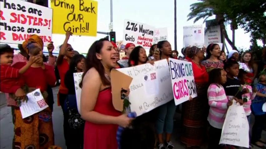 Biểu tình kêu gọi hành động trước vụ bắt cóc nữ sinh Nigeria