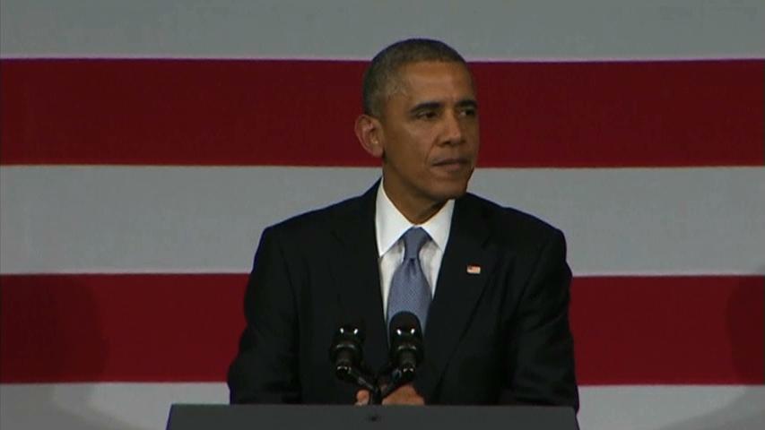 Tổng Thống Obama nói người quấy rối làm hỏng phần kết thúc bài diễn văn của ông