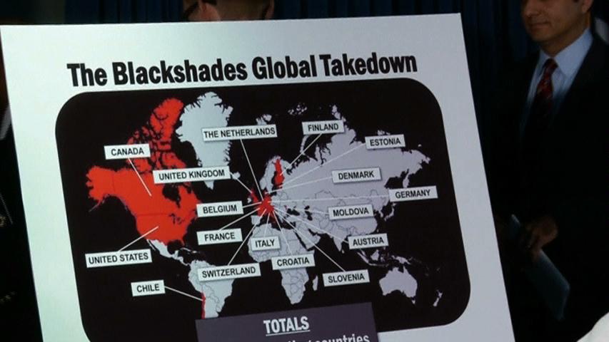Hoa Kỳ thông báo chiến dịch toàn cầu chống Blackshades