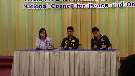 Quân đội Thái Lan mở họp báo
