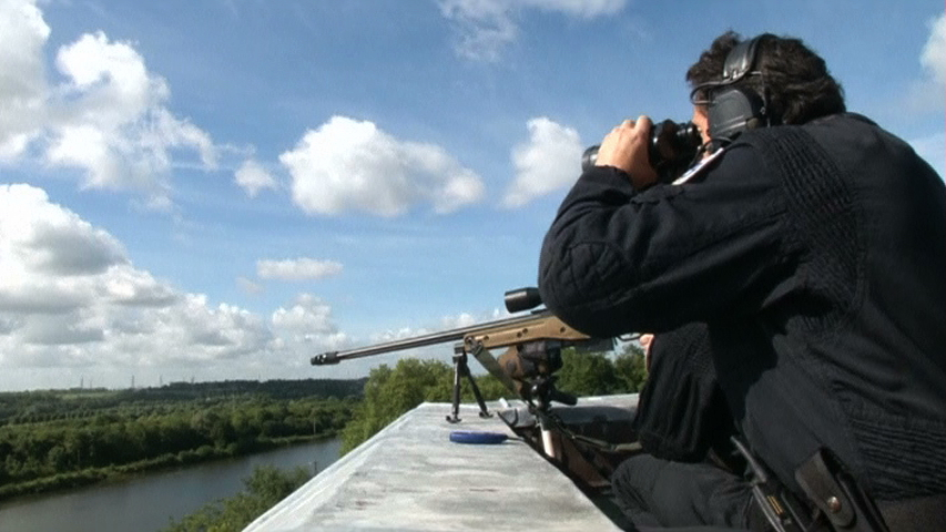 Lực lượng đặc biệt Pháp đang thực tập bảo vệ an ninh cho ngày lễ D-Day