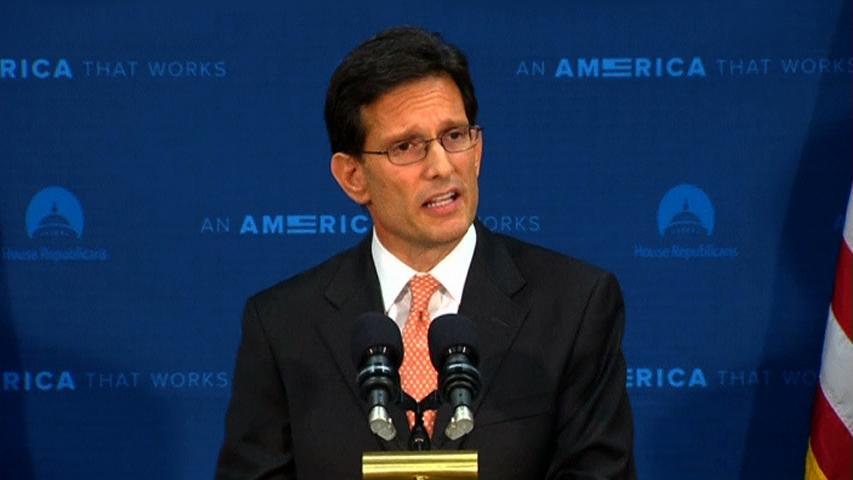Eric Cantor họp báo tuyên bố từ chức lãnh đạo đa số tại hạ viện