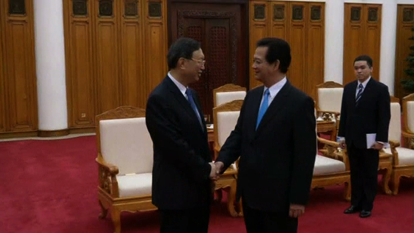 Dương Khiết Trì gặp Nguyễn Tấn Dũng và Nguyễn Phú Trọng