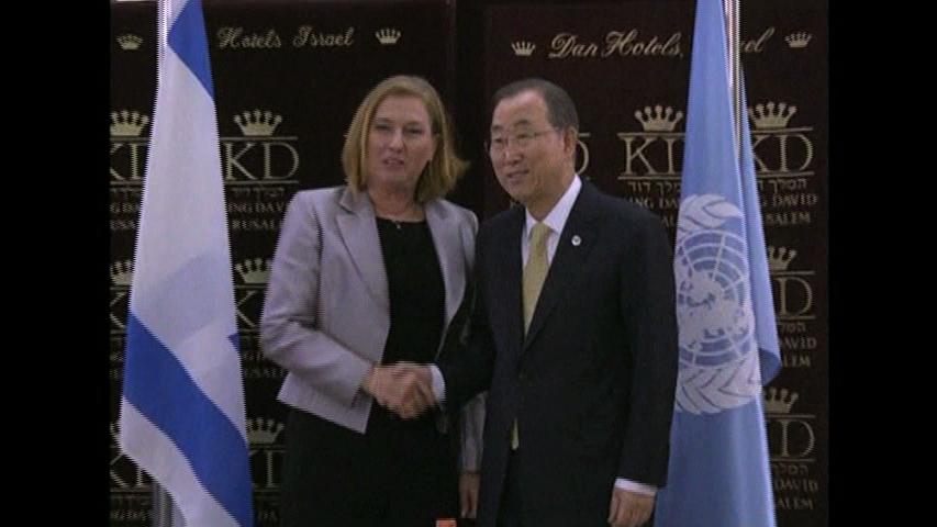 Ông Tổng thư ký Liên Hiệp Quốc gặp các nhà lãnh đạo Do Thái