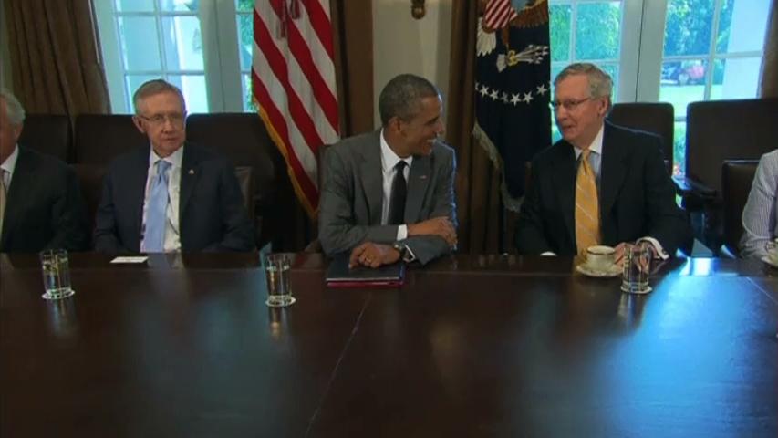 Tổng thống Obama gặp gỡ thành viên quốc hội để thảo luận về chính sách đối ngoại