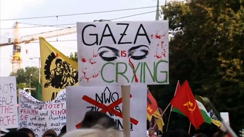 Biểu tình bày tỏ sự ủng hộ người dân Gaza