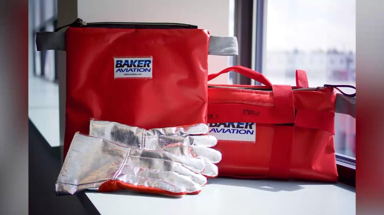 Hàng không dùng túi xách chống cháy đựng đồ điện tử