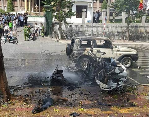 Nổ bom trước trụ sở thành phố Cẩm Phả là do tự sát?