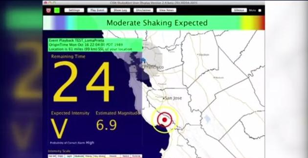 Nam California cảnh báo động đất