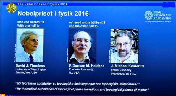 3 khoa học gia Anh nhận Nobel Vật lý 2016