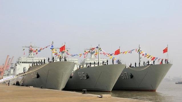 Ba chiến hạm Trung Cộng sắp cập cảng Cam Ranh