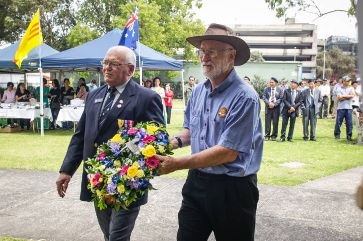 Khánh thành đài kỷ niệm tình chiến hữu Úc-Việt ở thành phố Wollongong