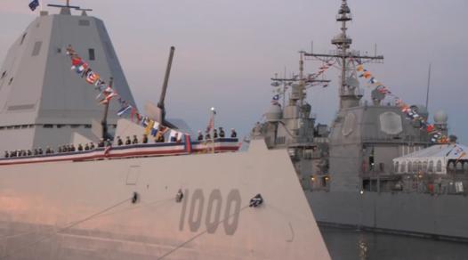 Hải Quân Hoa Kỳ trang bị tuần dương hạm USS Zumwalt lớn nhất, có kỹ thuật tối tân nhất