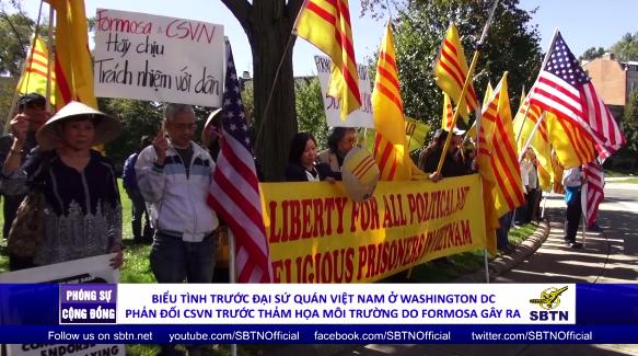 Biểu tình trước toà Toà Đại Sứ CSVN ở Washington D.C