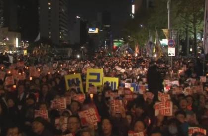 Hàng ngàn người biểu tình ở Seoul đòi Tổng Thống Nam Hàn từ chức