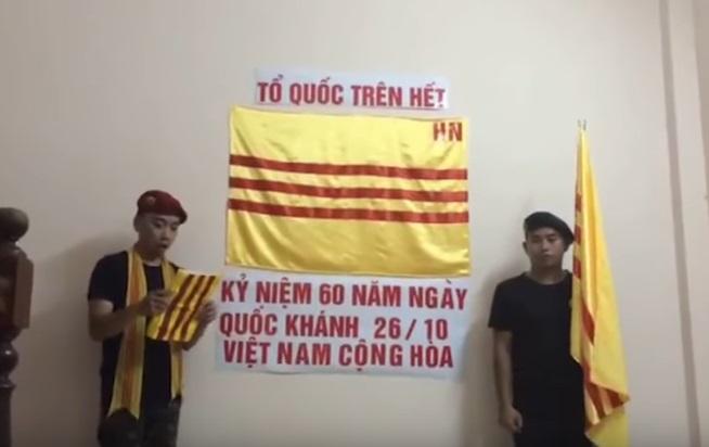 Thanh niên Hà Nội kỷ niệm 60 năm quốc khánh Đệ Nhất Cộng Hoà Miền Nam Việt Nam