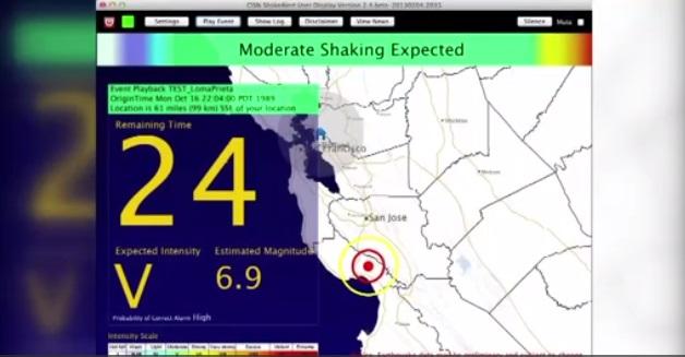 California sắp có hệ thống cảnh báo động đất