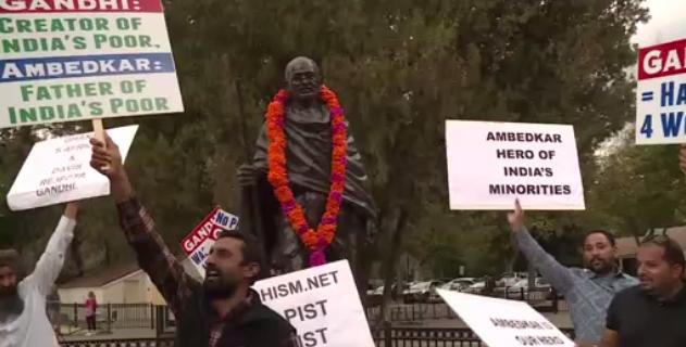 Cư dân Davis chia rẽ vì vụ đặt tượng Ghandi