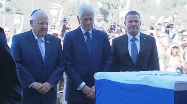 Cựu tổng thống Bill Clinton viếng linh cữu cố tổng thống Shimon Peres