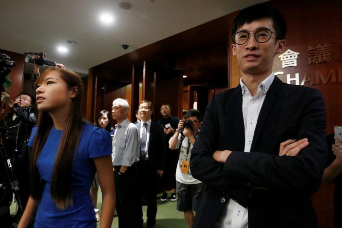 Hai là lập pháp trẻ tuổi Hồng Kông không chịu xin lỗi phe thân Trung Cộng