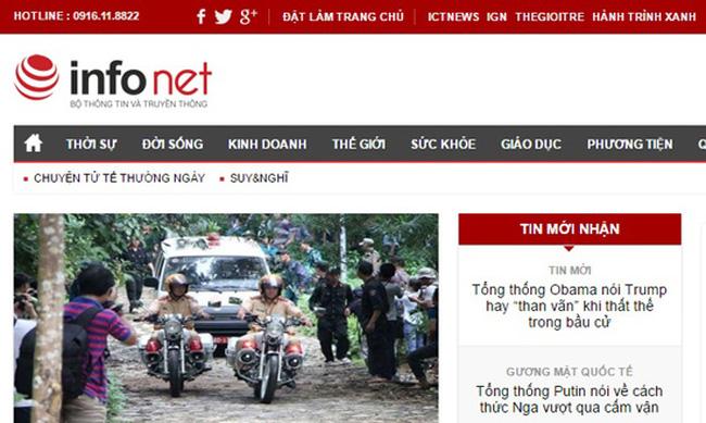 Tổng biên tập và phó tổng biên tập báo mạng Infonet bị tạm đình chỉ chức vụ